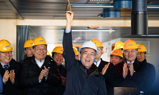Президент Мун уверен, что Корея еще раз станет лидером по судостроению